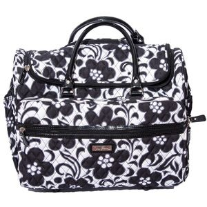 Vera Bradley Day and Night Zip Top Rolling Luggage